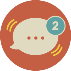chat bubble with 2